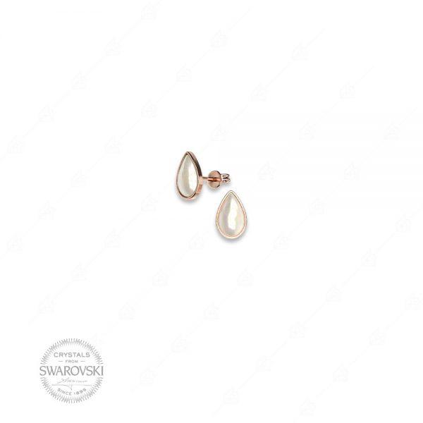 Σκουλαρίκια πέρλα ασήμι 925