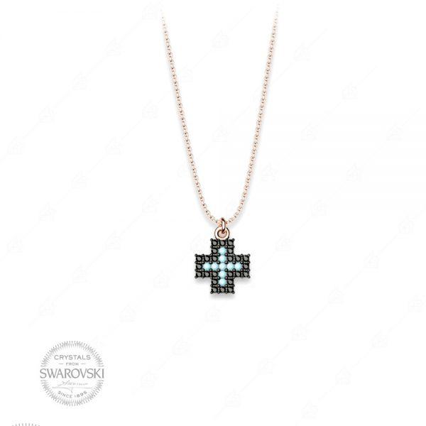 Κολιέ ασήμι 925 με σταυρό