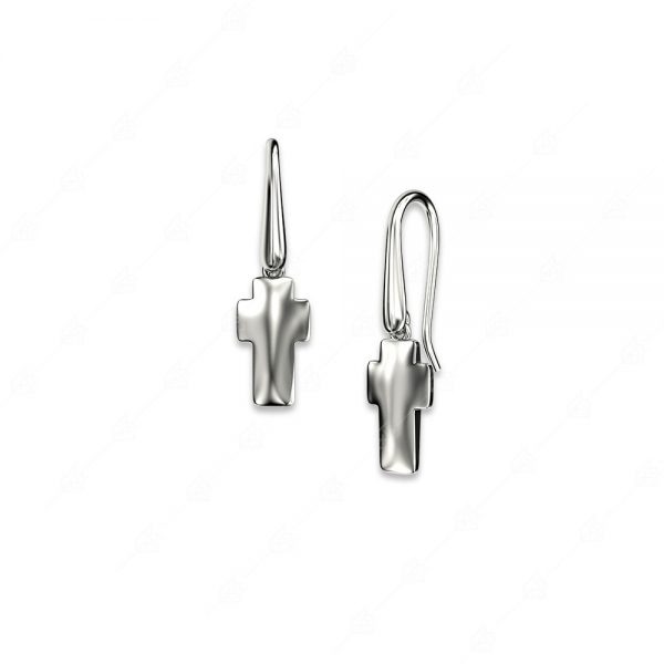 Σκουλαρίκια ασήμι 925 με σταυρό