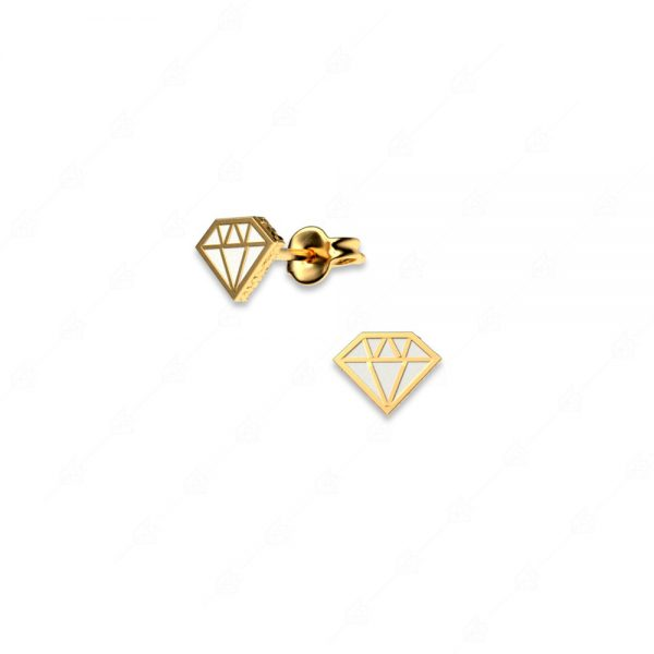 Σκουλαρίκια διαμάντι ασήμι 925