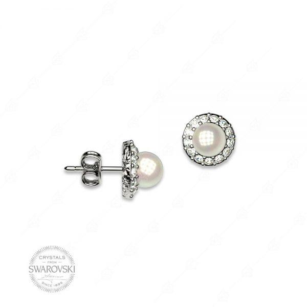 Σκουλαρίκια ασήμι 925 με πέρλα