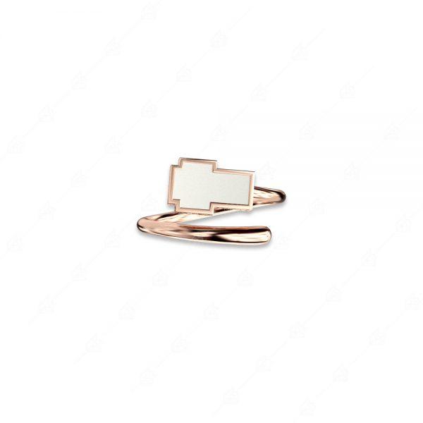 Ασημένιο δαχτυλίδι 925 με λευκό σταυρό