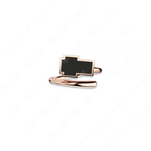 Ασημένιο δαχτυλίδι 925 με μαύρο σταυρό