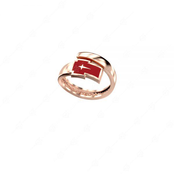 Δαχτυλίδι ασήμι 925 με κόκκινο σταυρό