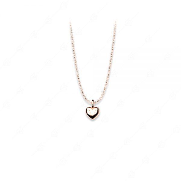 Κολιέ ασήμι 925 με καρδιά