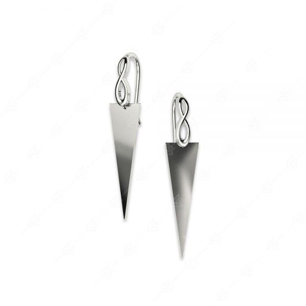 Σκουλαρίκια ασήμι 925 με άπειρο