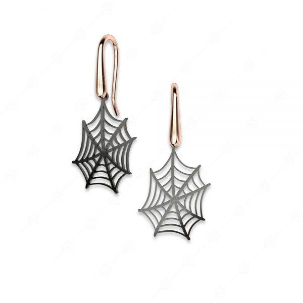 Σκουλαρίκια ασήμι 925 με ιστό αράχνης