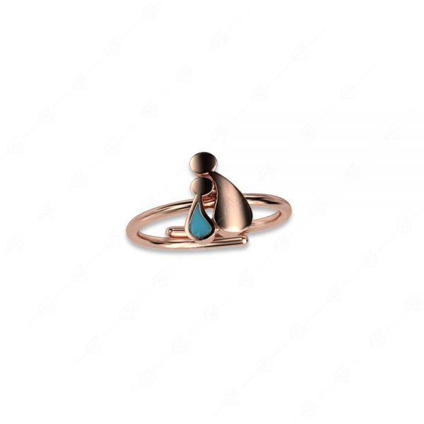 Δαχτυλίδι μαμά με αγοράκι ασήμι 925