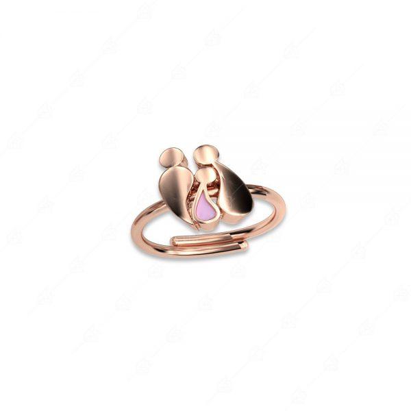 Δαχτυλίδι γονείς με κοριτσάκι ασήμι 925