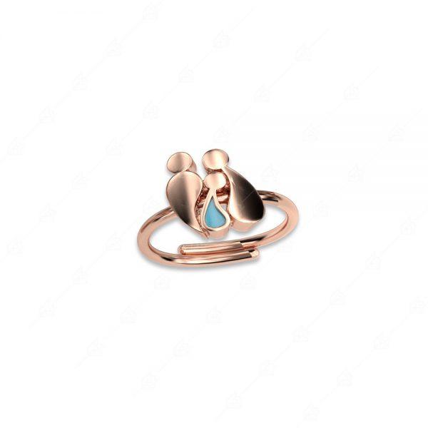 Δαχτυλίδι γονείς με αγοράκι ασήμι 925