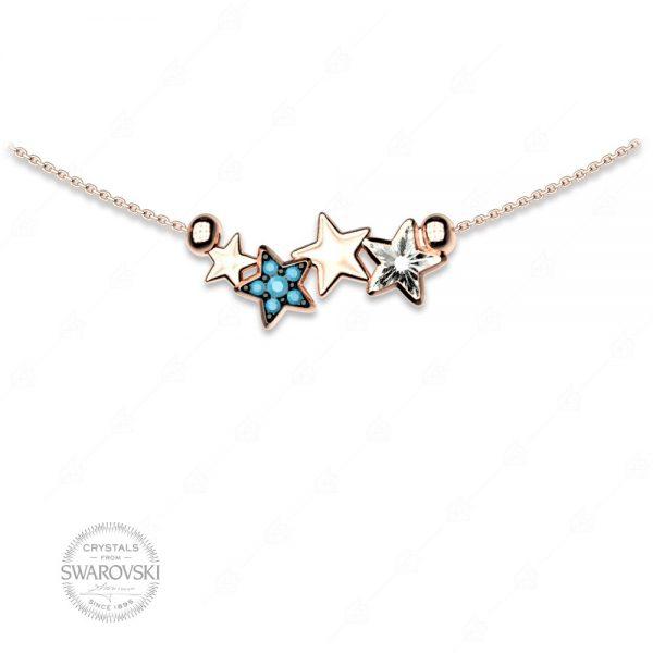 Κολιέ ασήμι 925 με αστέρια