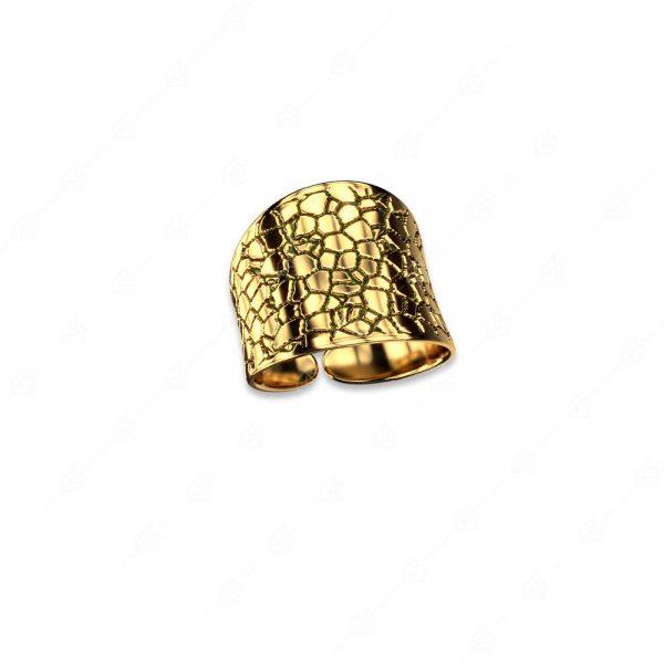 Δαχτυλίδι ασήμι 925 επιχρυσωμένο