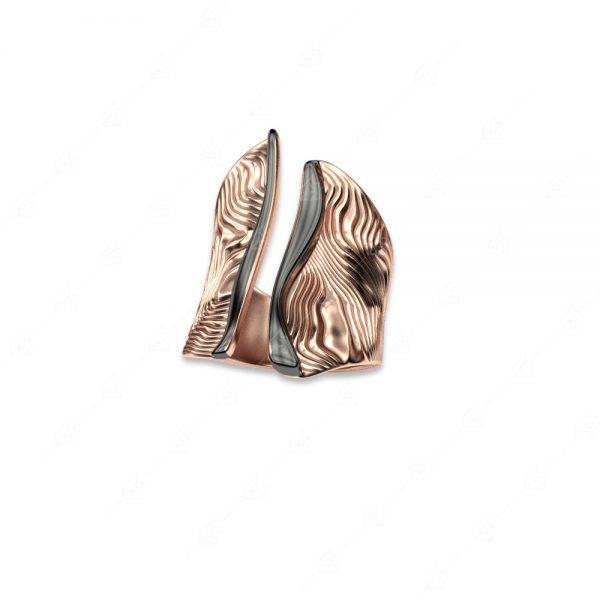 Δαχτυλίδι δίχρωμο ασήμι 925