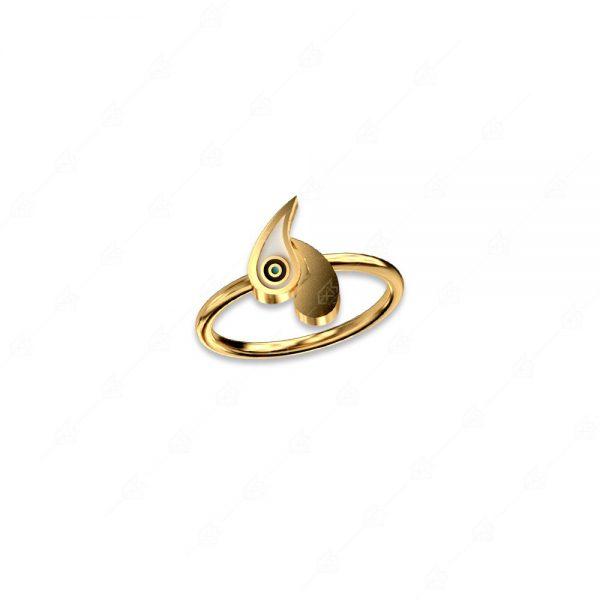 Δαχτυλίδι με δύο λαχούρια ασήμι 925 κίτρινο επιχρυσωμένο
