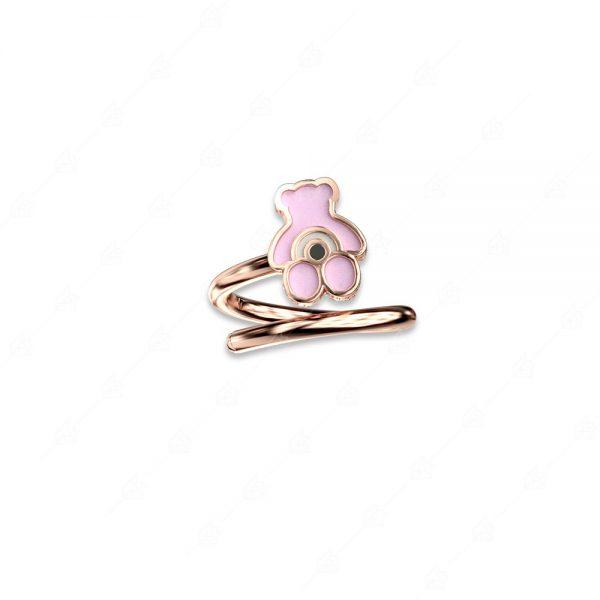 Δαχτυλίδι αρκουδάκι ασήμι 925