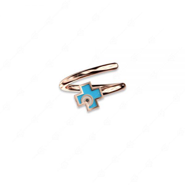 Δαχτυλίδι σταυρός ασήμι 925