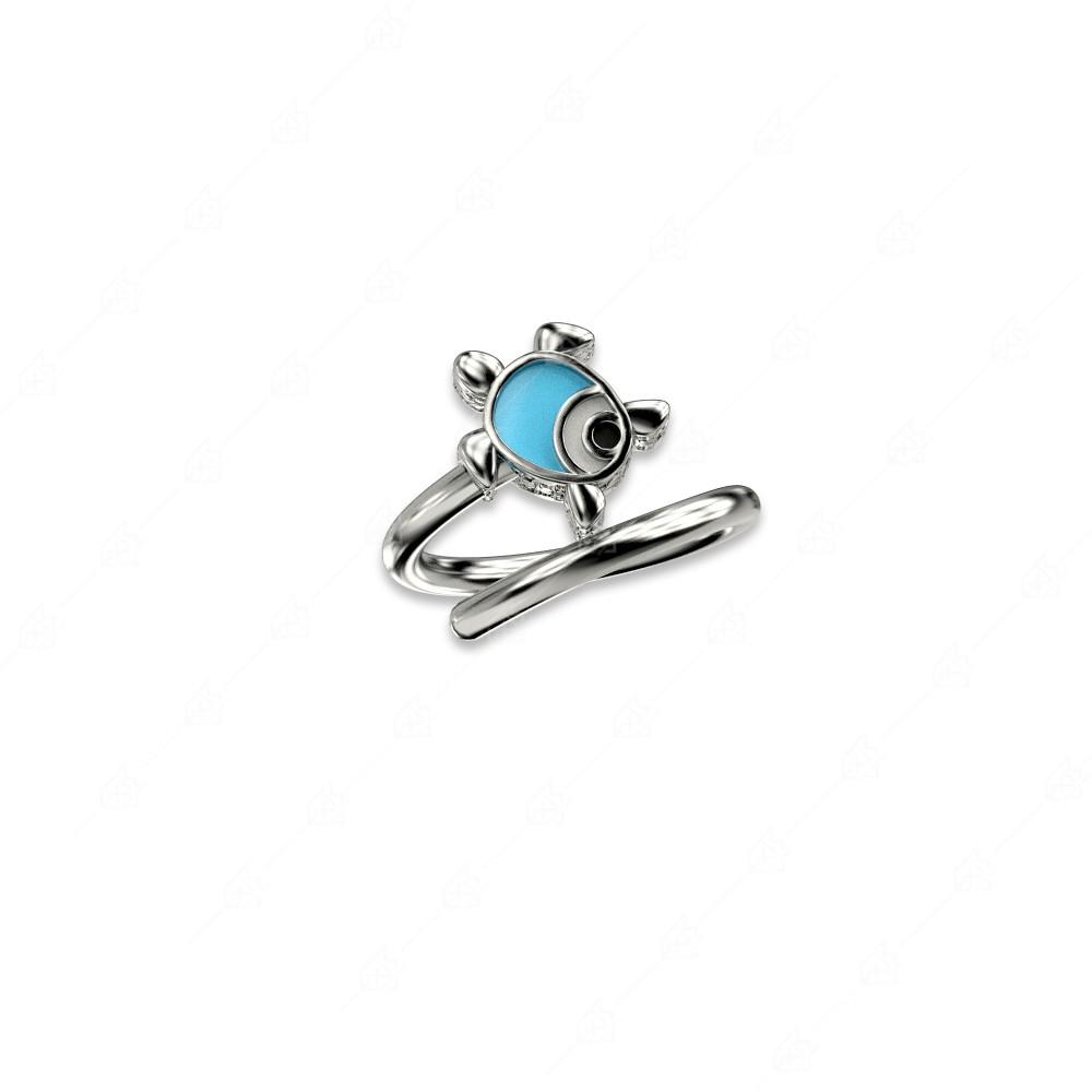 Δαχτυλίδι χελώνα ασήμι 925