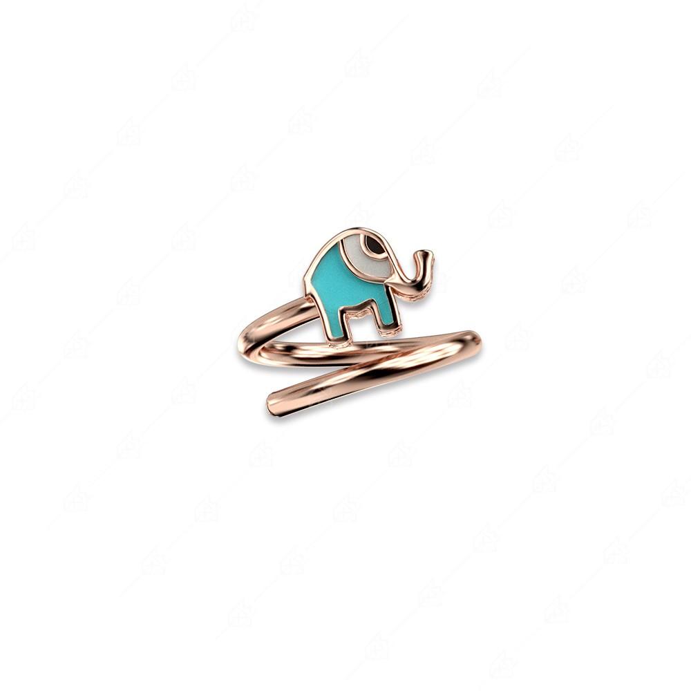 Δαχτυλίδι ελεφαντάκι ασήμι 925