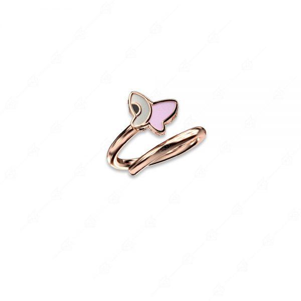Δαχτυλίδι πεταλούδα ασήμι 925