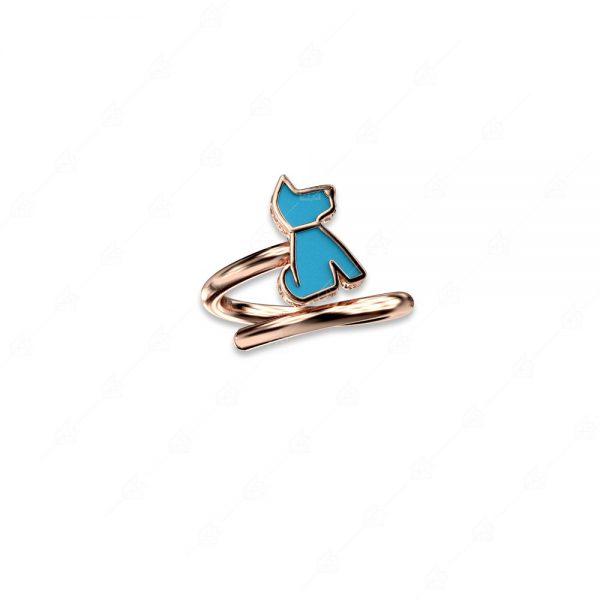 Δαχτυλίδι σκυλάκι ασήμι 925