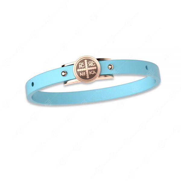 Βραχιόλι γαλάζιο κωνσταντινάτο ασήμι 925