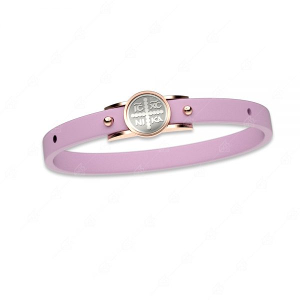 Βραχιόλι ροζ κωνσταντινάτο ασήμι 925