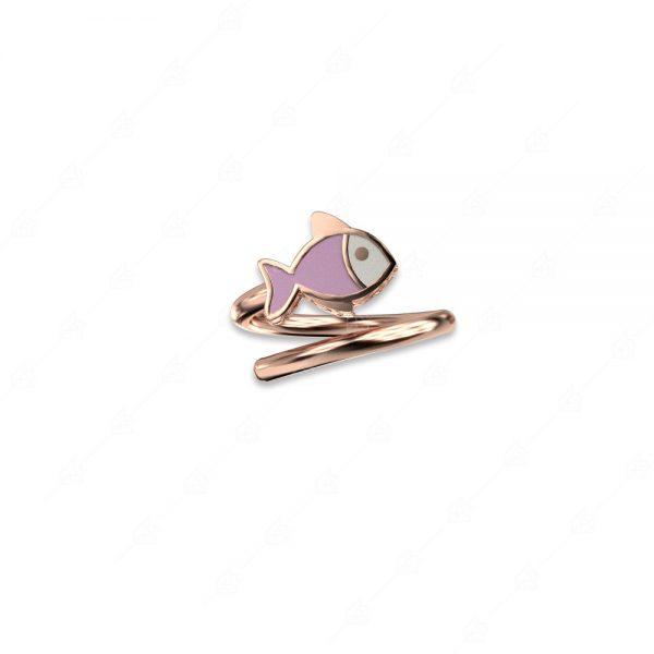Δαχτυλίδι ψαράκι ασήμι 925