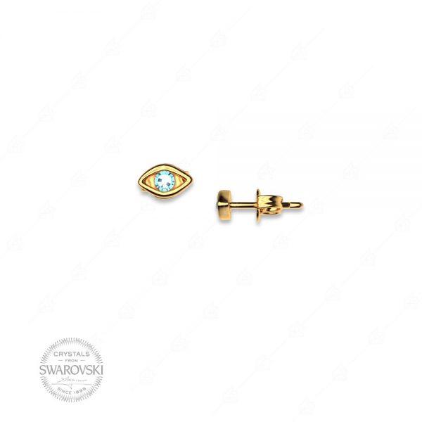 Σκουλαρίκια ασήμι 925 με ματάκι