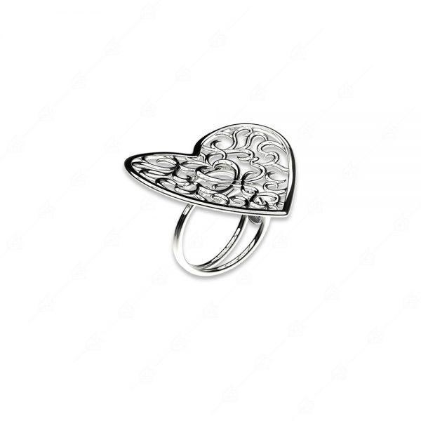 Δαχτυλίδι καρδιά ασήμι 925