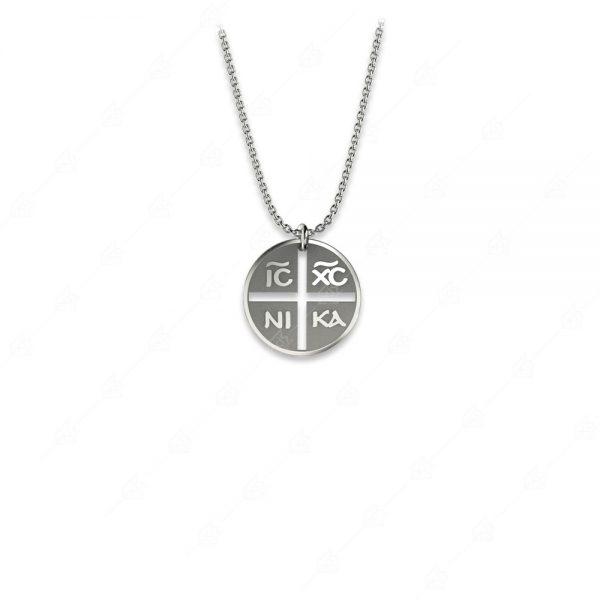 Κολιέ κωνσταντινάτο ασήμι 925