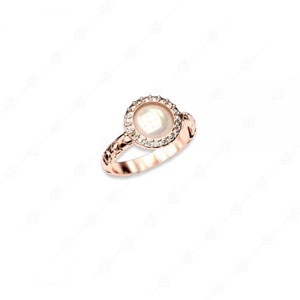 Δαχτυλίδι ασήμι 925 με πέρλα και κρύσταλλα