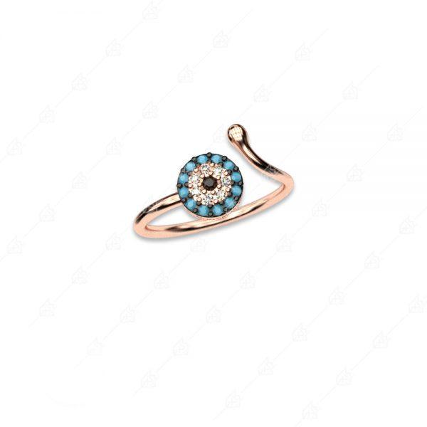 Δαχτυλίδι ασήμι 925 με στόχο ματάκι