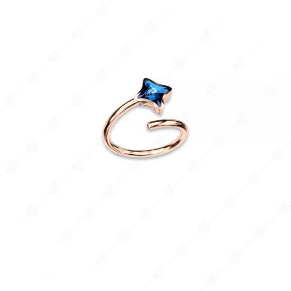 Δαχτυλίδι ασήμι 925 με ρόμβο