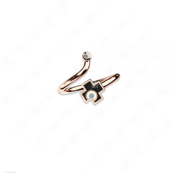 Δαχτυλίδι ασήμι 925 με σταυρό