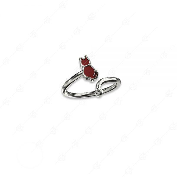 Δαχτυλίδι γατούλα ασήμι 925