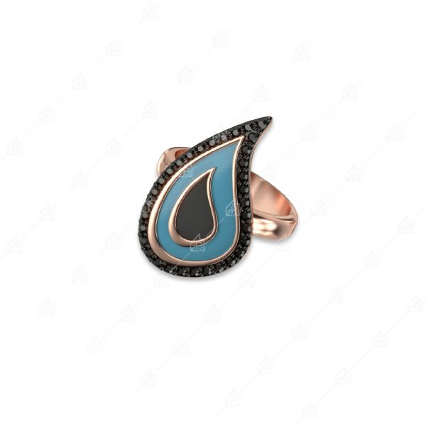 Δαχτυλίδι μεγάλο δάκρυ ασήμι 925