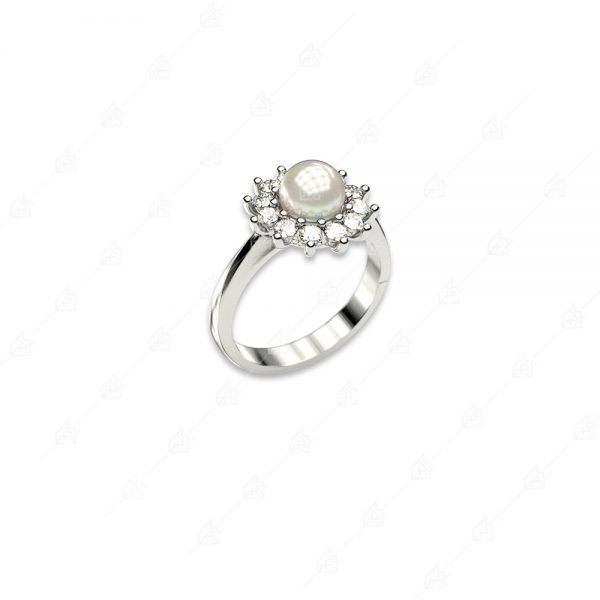 Δαχτυλίδι πέρλα ασήμι 925