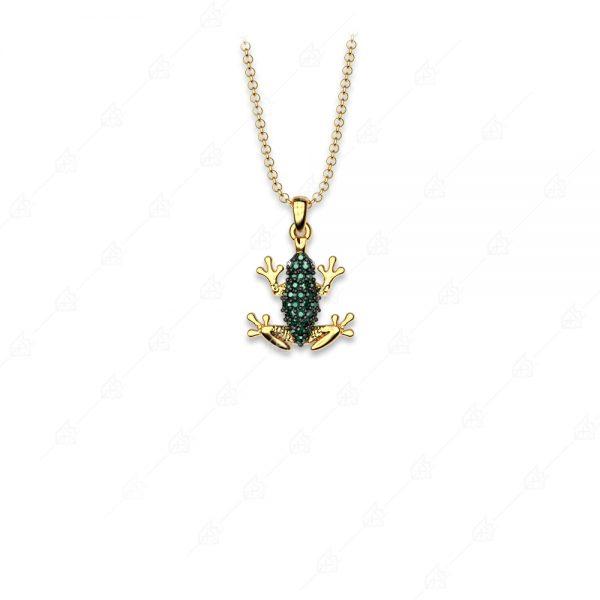 Κολιέ βάτραχος ασήμι 925