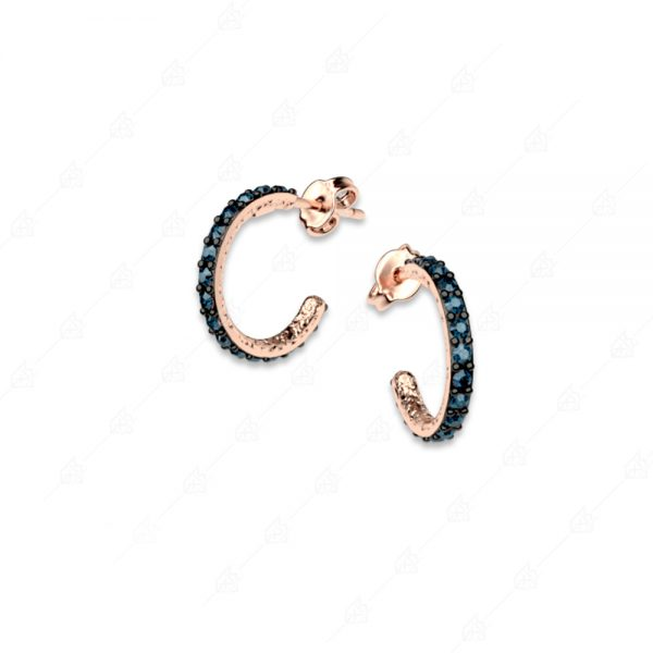Σκουλαρίκια κρικάκια ασήμι 925 με ροζ επιχρύσωμα