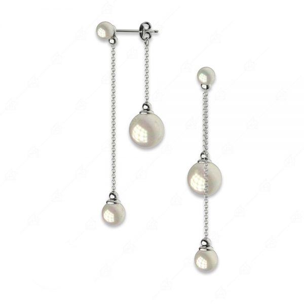 Ιδιαίτερα σκουλαρίκια ασήμι 925 με πέρλες
